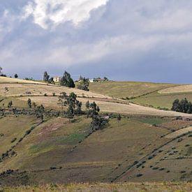Groene glooiende heuvels in Ecuador van Anouschka Hendriks