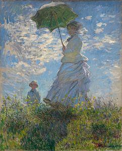 Schilderij De Wandeling van Claude Monet