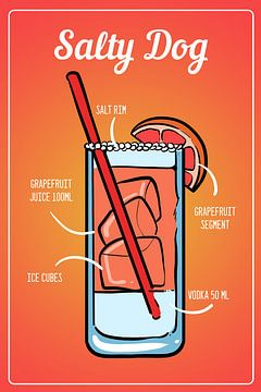 Salty Dog Cocktail van Amango