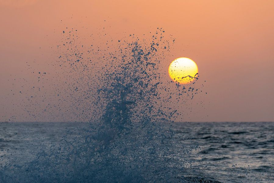 Zonsondergang van Ger van Beek