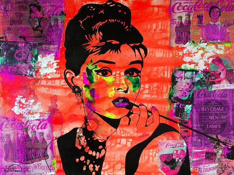 Audrey Hepburn Coca von Kathleen Artist Fine Art