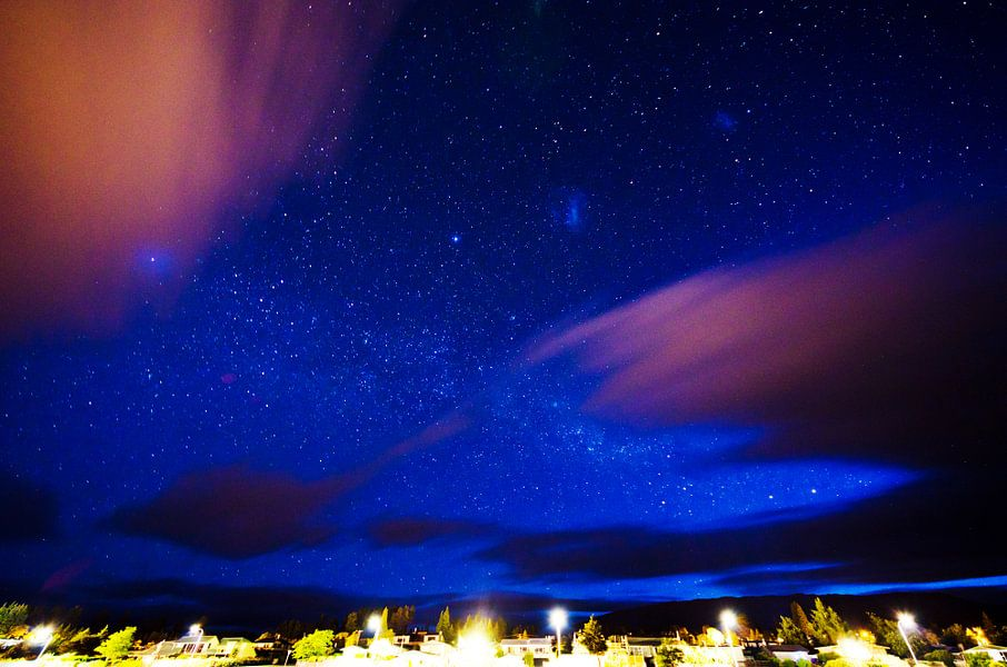 Sterrenhemel en melkweg boven Wanaka, Nieuw Zeeland