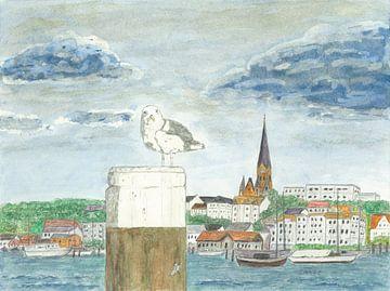 Hafenspitze Flensburg von Sandra Steinke