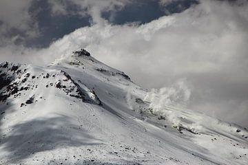 Besneewde vulkaan, Altiplano Bolivia van A. Hendriks