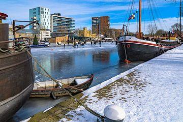 Winterpret aan de Piushaven