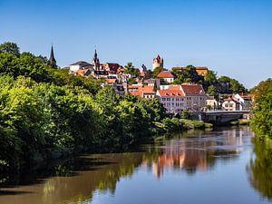 Panoramablick über die Stadt Bernburg in Sachsen-Anhalt von Animaflora PicsStock