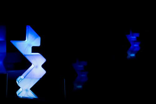 Blue shapes van