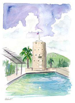 Charlotte Amalie St Thomas Szene mit Blackbeard Turm