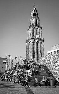 D'Olle Grieze, zwart wit van Groningen Stad