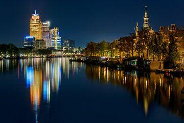 Reflecties op de Amstel te Amsterdam