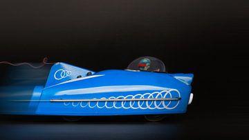 blauwe racewagen  - 1171 van