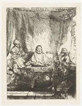 Le Christ dans Emmaüs : vue d'ensemble, Rembrandt van Rijn sur Ed z'n Schets