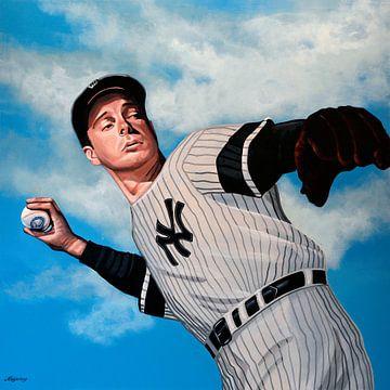 Joe DiMaggio schilderij van Paul Meijering
