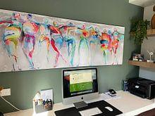 Klantfoto: All Happy Connected People  van Atelier Paint-Ing, als print op doek
