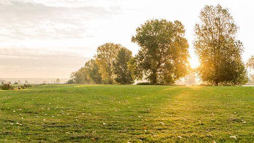 Heumen, zonsopkomst in de herfst