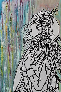 Engel weint Herzschmerz von Esther de Wilde