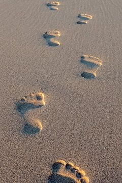 voetstappen in het zand von gaps photography