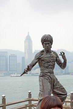 Bruce Lee standbeeld op de Avenue of Stars in Hong Kong van t.ART