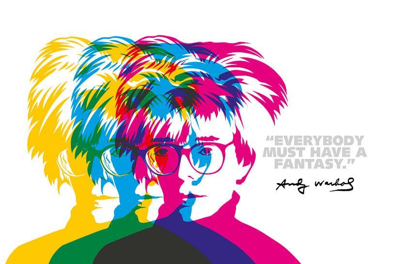 Andy Warhol Quote van Harry Hadders