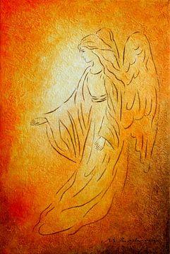 Engel van Genezing - Angel schilderijen van Marita Zacharias