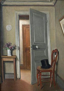 Der Zylinder, indoor oder La Visite, Félix Vallotton