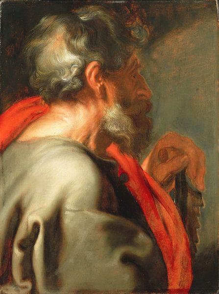 Der Apostel Simon, Anthony van Dyck. von Meesterlijcke Meesters