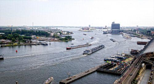 """Amsterdam """"Scheepvaart op het IJ"""" van Reinder Weidijk"""