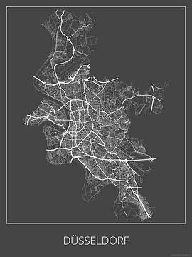 Düsseldorf, grijs van Geodat