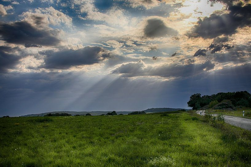Wolken en licht van Erich Werner