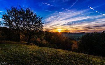 Maastricht Sint Pieters Berg Sunset van Danny Bartels