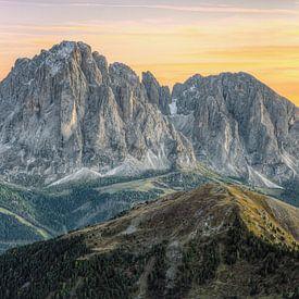 Sassolungo Groep Zuid-Tirol van Michael Valjak