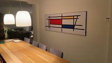 Klantfoto: Piet Mondriaan Art 3 van Marion Tenbergen, op print op doek