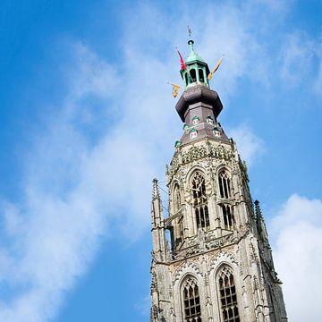 Torenspits van de Grote of O.L.V.-Kerk in Breda van