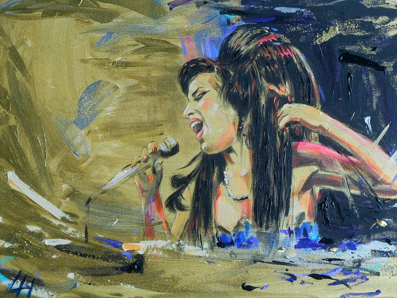 Amy Winehouse - Golden Amy von Lucia Hoogervorst