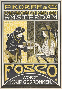 F. Korff & Co. Cacaofabrikanten Amsterdam, Willem Pothast van Vintage Afbeeldingen