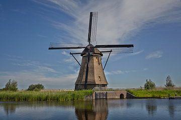 KINDERDIJK, NEDERLAND - een Nederlandse stad, gelegen in de provincie Zuid-Holland in Nederland. Kin van Tjeerd Kruse