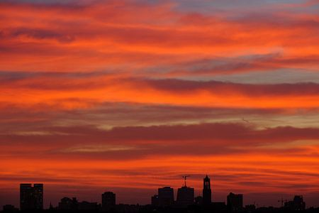 Skyline van Utrecht met de Domtoren