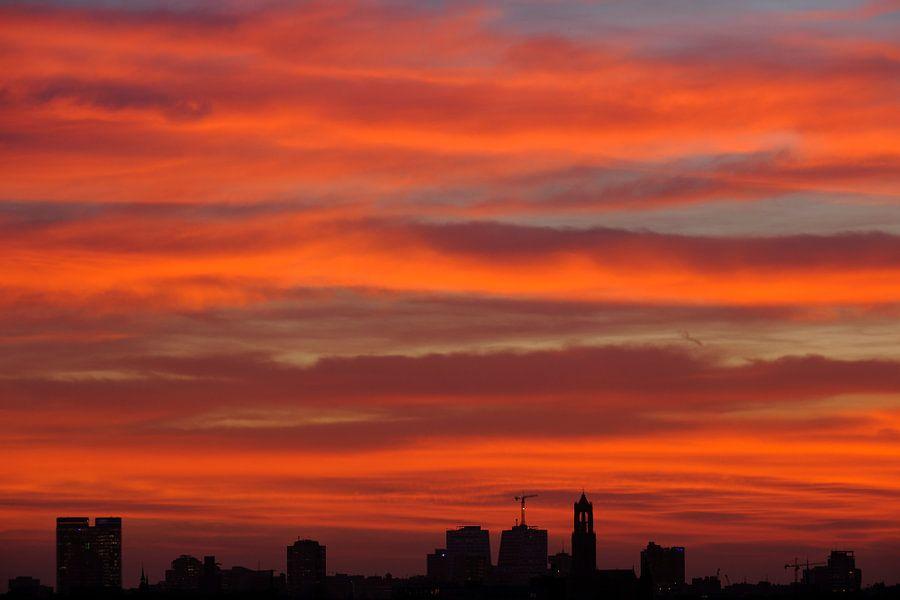 Skyline van Utrecht met de Domtoren van Donker Utrecht