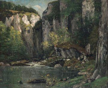 Rivier en Rotsen, Gustave Courbet