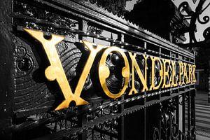 Gouden letters Vondelpark