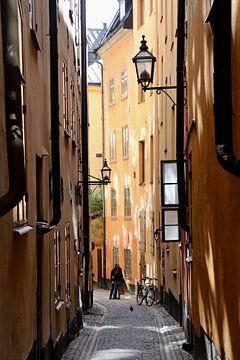 Liefdeskoppel in Gamla Stan, Stockholm van Julia Wezenaar