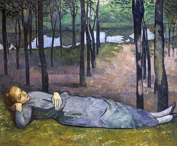 Emile Bernard, Madeleine in bos van liefde, 1888 van Atelier Liesjes