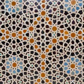 Moskee decoratie-element. Fez Marokko, Noord-Afrika. van Tjeerd Kruse
