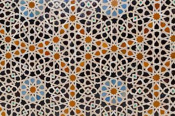 Moschee-Dekorationselement. Fez Marokko, Nordafrika. von Tjeerd Kruse