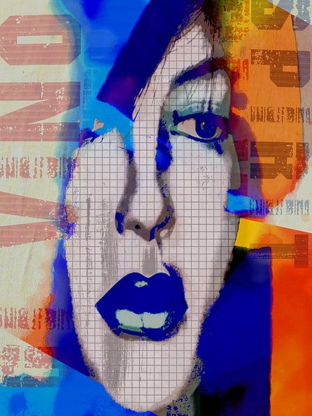 Blue lips van Gabi Hampe