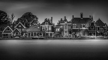 Zwart wit Huizen in Zaanse Schans