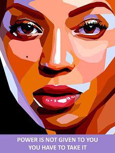 Pop Art Beyonce van