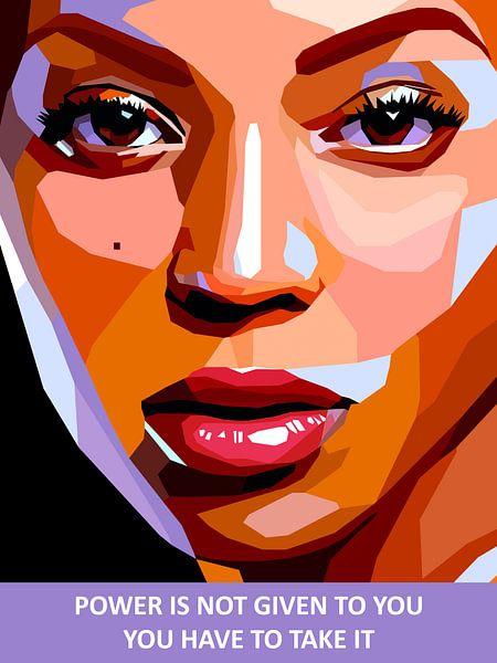 Pop Art Beyonce van Jan Willem van Doesburg
