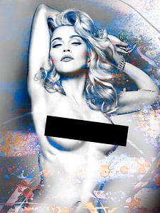 Madonna Wahrheit von Dare Naked Abstract Blau Orange