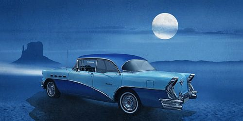 Blauwe nacht op Route 66